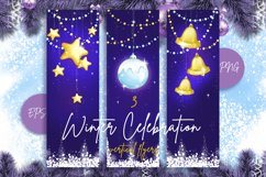 Vertical Christmas background. Cards for greeting. Product Image 1