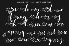 Acmedia Butterflies and Flowers Font Product Image 3