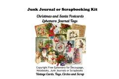 Vintage Christmas Junk Journal or Scrapbook Add Ons Kit PDF Product Image 1