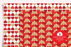 Valentines Day Digital Paper, Hearts Digital Paper Product Image 6