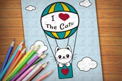 Printable Kitties Coloring Pages for Kids, Vol. 3 Product Image 2