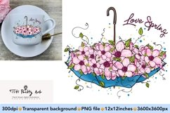 Love Spring PNG, Spring Is Here Product Image 1