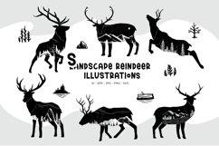 Landscape Reindeer Illustrations Product Image 2