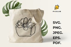 Flower pot - Flower plant - Flower clip art - House plant Product Image 1