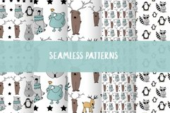 Animals & patterns for baby nursery Cute baby illustrations Product Image 5