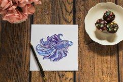 3D Zentangle Fish | 3D Papercut SVG Product Image 3
