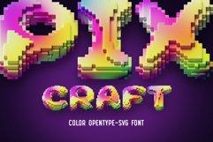 Pixcraft - Color Bitmap Font! Product Image 1