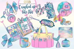 I washed up like this - mermaid planner clipart collection Product Image 1