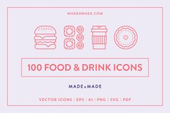 Line Icons - Food & Drink Product Image 1
