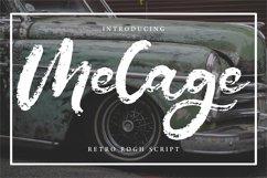Melage | Retro Rogh Script Font Product Image 1