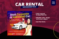 Car Rental Banner Pack Product Image 1