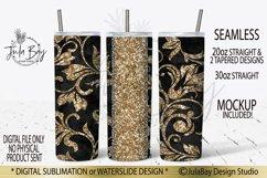 Tooled Leather Skinny Tumbler Design Gold Peekaboo Sub PNG Product Image 1