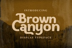 Web Font Brown Canyon Product Image 1