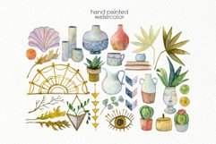 Watercolor Boho Clipart - PNG Files Product Image 3