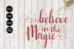 Believe in the Magic CHRISTMAS SVG for Cricut Product Image 2