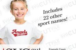 Angels svg, Angel svg, Angels baseball svg, swoosh svg Product Image 3