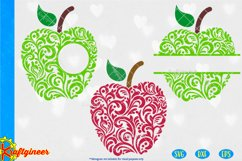 Swirly Apples SVG | Teacher SVG Product Image 1