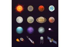 Planets icon set, isometric style Product Image 1