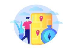 Navigation Flat Illustration Product Image 1