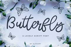 Butterfly - a lovely script font Product Image 1