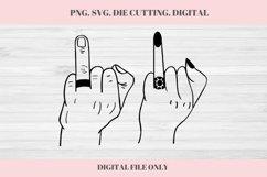 Wedding Ringer Finger, Wedding SVG, Ring Finger, Engaged Product Image 1