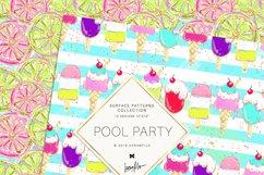 Summer Patterns, Unicorn Flamingo Digital Paper Product Image 6