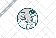 Frontline Worker Vaccinated with Covid-19 Vaccine EPS Product Image 1
