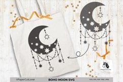 Boho Moon SVG Crescent Moon SVG Half Moon Svg Product Image 5