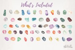 60 Gemstones Watercolor Elements Painted PNG Stones Crystals Product Image 3