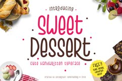 Sweet Dessert Cute Typeface Product Image 2