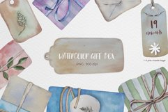 Watercolor gift boxes and tags Product Image 1