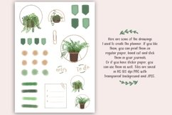 Printable Planner plus Free Stickers, Plants Planner, PDF Product Image 5