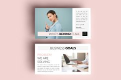 PPT Template | Business Plan - Pink and Marble Round Product Image 2