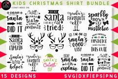 Kids Christmas shirt SVG Bundle | SVG DXF EPS PNG MB37 Product Image 1