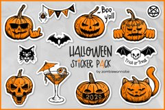 Sticker Bundle - Halloween Sticker Pack, Pumpkin Stickers Product Image 1