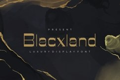 Blacxland - Luxury Display Font Product Image 1