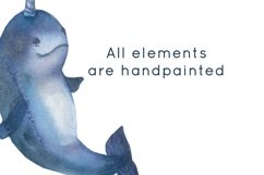 Ocean animals watercolor clipart Product Image 2