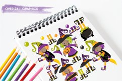 Little Witches graphics and illustrations Product Image 3