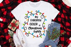 My favorite color is christmas lights svg Christmas quotes Product Image 2