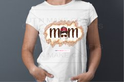 Leopard Print MOM Messy Bun Sublimation Design for T-shirts Product Image 2