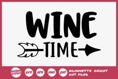 Wine Time SVG - Wine Lover SVG - Wine Glass SVG Product Image 1