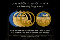3D nativity Christmas ornament layers preview