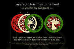 3D angel Christmas ornament layers preview