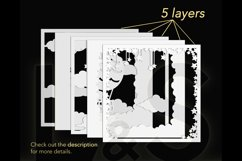 3D baby elephant shadowbox layers preview
