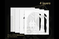 3D best friends shadowbox layers preview
