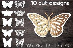 papercut butterfly template