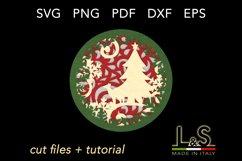 3D Christmas ball layers