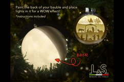 3D Christmas bauble cut files