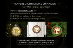 3D Christmas ornaments file for cutting machines and laser cut
