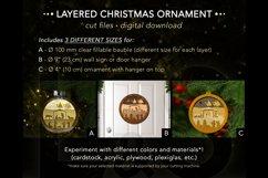 3D Christmas ornaments layered cut files